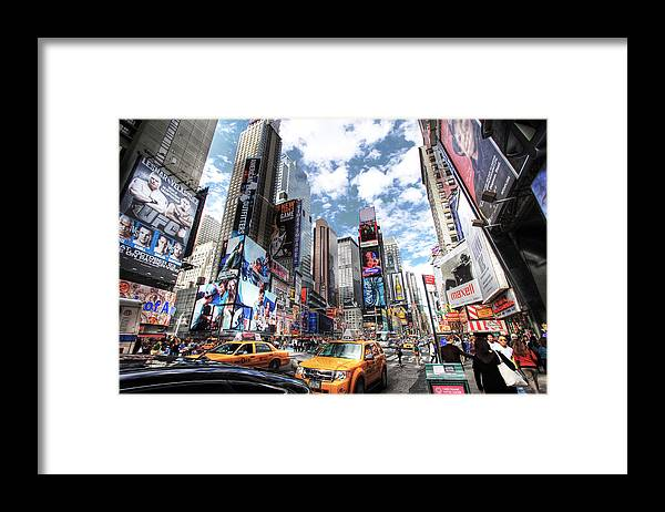 Times Square Framed Print featuring the photograph Times Square by Kean Poh Chua