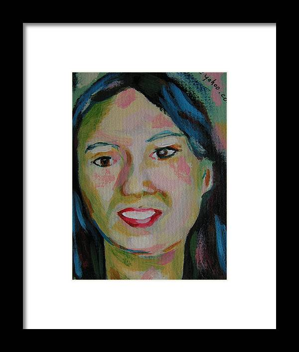 Paintings Framed Print featuring the painting Tina by Robert P Hedden