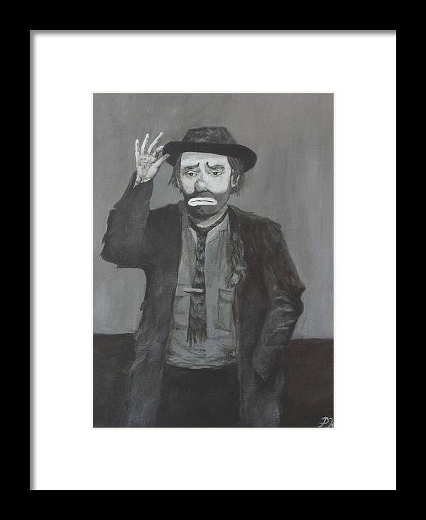 Emmett Kelly Framed Print featuring the painting Tip Of The Cap by Patrick Kelly