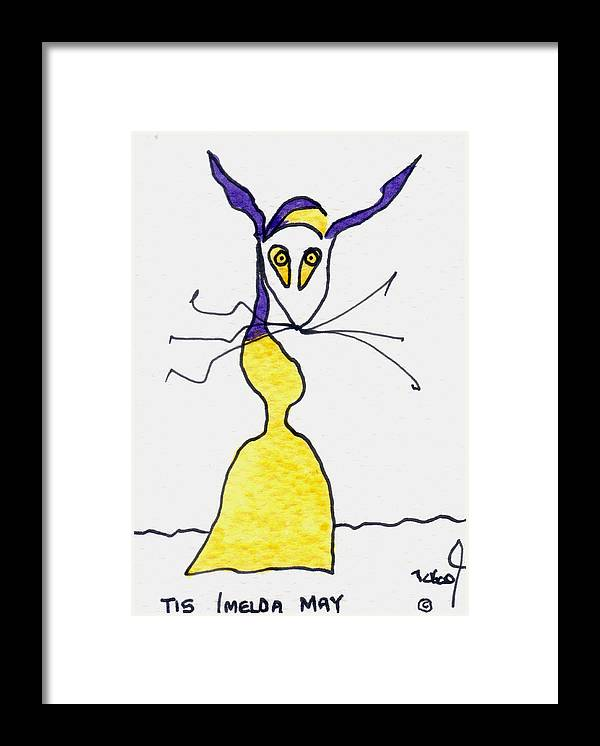 Imelda Framed Print featuring the painting Tis Imelda May by Tis Art