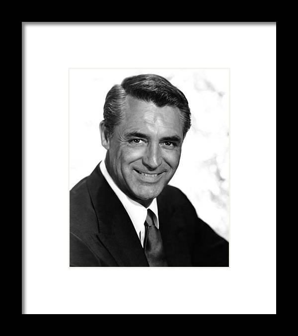 1950s Portraits Framed Print featuring the photograph To Catch A Thief, Cary Grant, 1955 by Everett