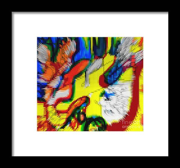 Colours Framed Print featuring the digital art Tocatoca by Toteto Toteto
