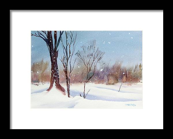 Winter Landscape Framed Print featuring the painting Today's Blanket. by Josh Chilton