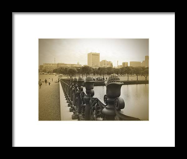 Tokyo Framed Print featuring the photograph Tokyo Square by Naxart Studio