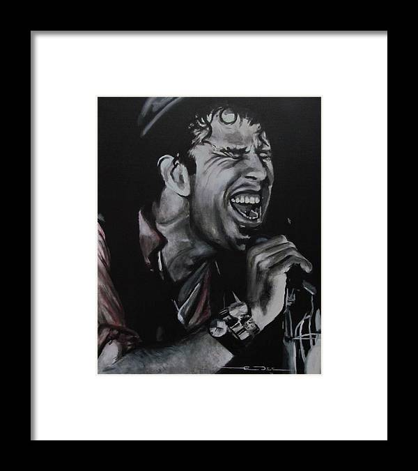 Big Time Framed Print featuring the painting Tom Waits - Shore Leave - Charlene by Eric Dee