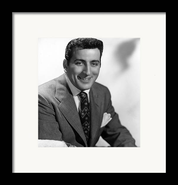 1950s Portraits Framed Print featuring the photograph Tony Bennett, C. 1952 by Everett
