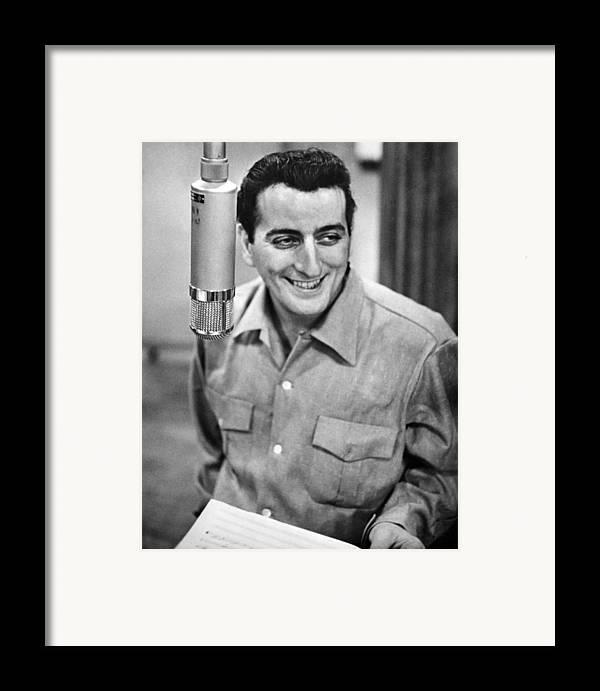 1950s Portraits Framed Print featuring the photograph Tony Bennett, C. 1954 by Everett