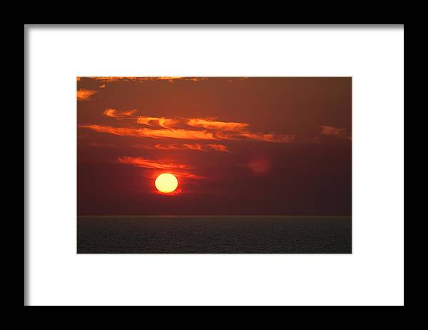 Top-end Sunset Framed Print featuring the photograph Top End Sunset by Douglas Barnard
