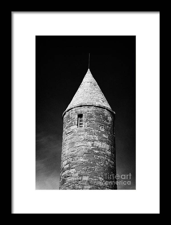Northern Framed Print featuring the photograph Top Of Irish Round Tower by Joe Fox