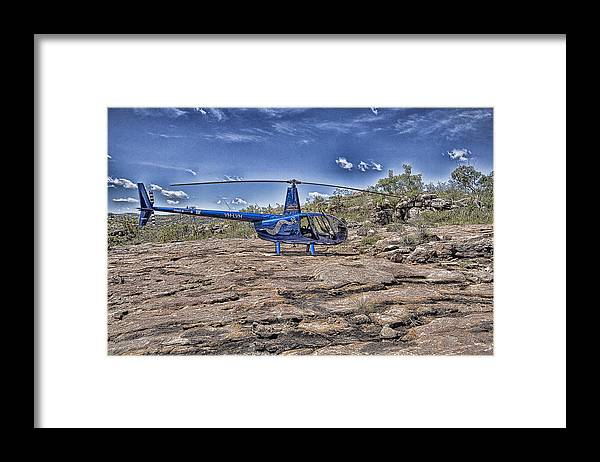 Helicopter Framed Print featuring the photograph Top of the Gorge by Douglas Barnard