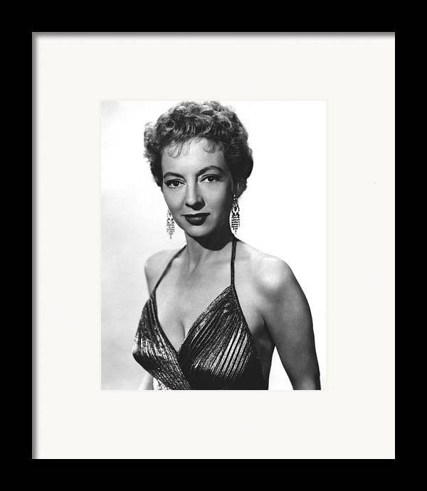 1950s Portraits Framed Print featuring the photograph Top Of The World, Evelyn Keyes, 1955 by Everett