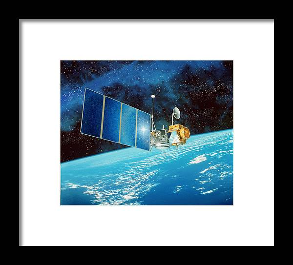 Topex Framed Print featuring the photograph Topex/poseidon Satellite by David Ducros