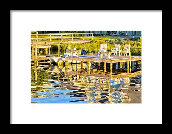 Topsail Framed Print featuring the photograph Topsail Sound At Sunset by Betsy Knapp