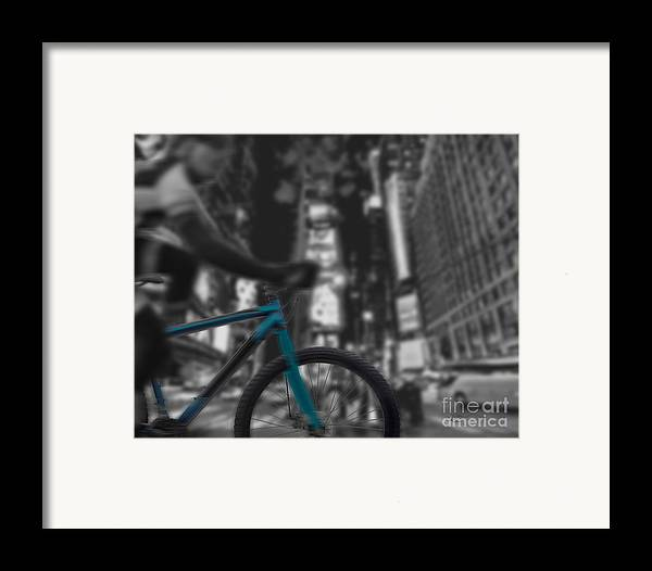 Bike Framed Print featuring the digital art Touring The City by Linda Seacord
