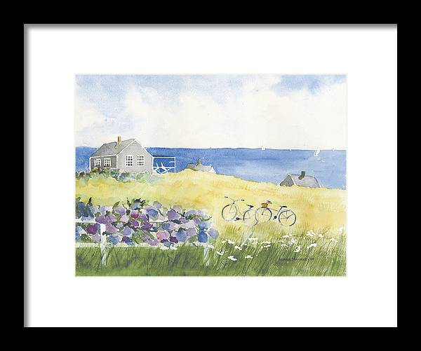 Houses Framed Print featuring the painting Touring the Island by Susan Mahoney