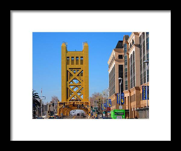 Old Town Sacramento Framed Print featuring the photograph Tower Bridge 4 by Barry Jones