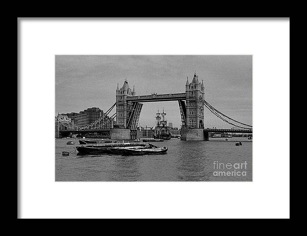 The Endeavor Framed Print featuring the photograph Tower Bridge and the Endeavor by Aldo Cervato