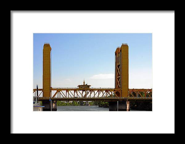 Tower Bridge Framed Print featuring the photograph Tower Bridge Sacramento - A Golden State Icon by Christine Till