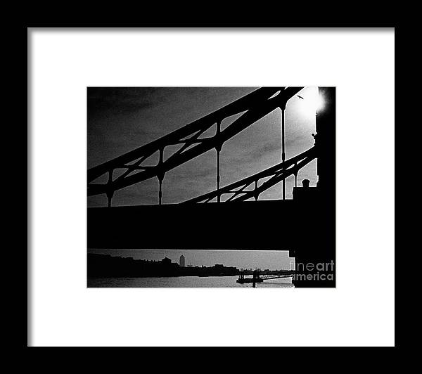 Silhouette Framed Print featuring the photograph Tower Bridge Silhouette by Aldo Cervato