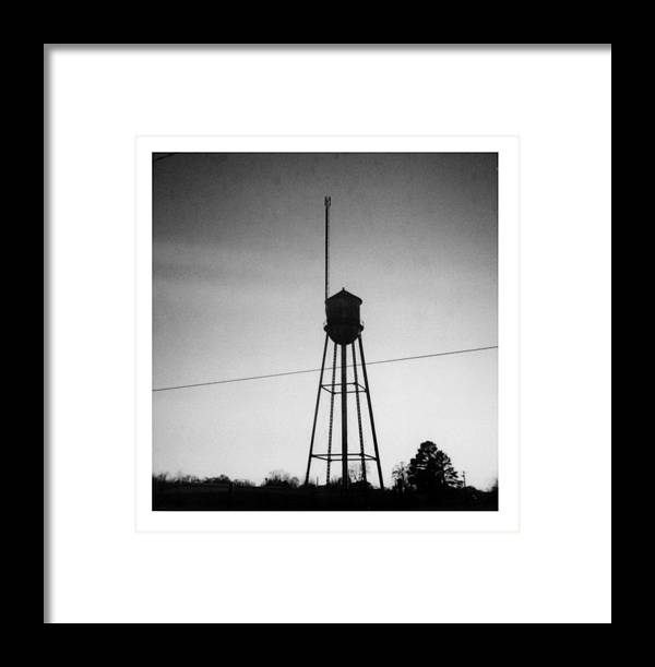 Louisiana Framed Print featuring the photograph Tower- Jackson Street- Monroe Louisiana by Doug Duffey