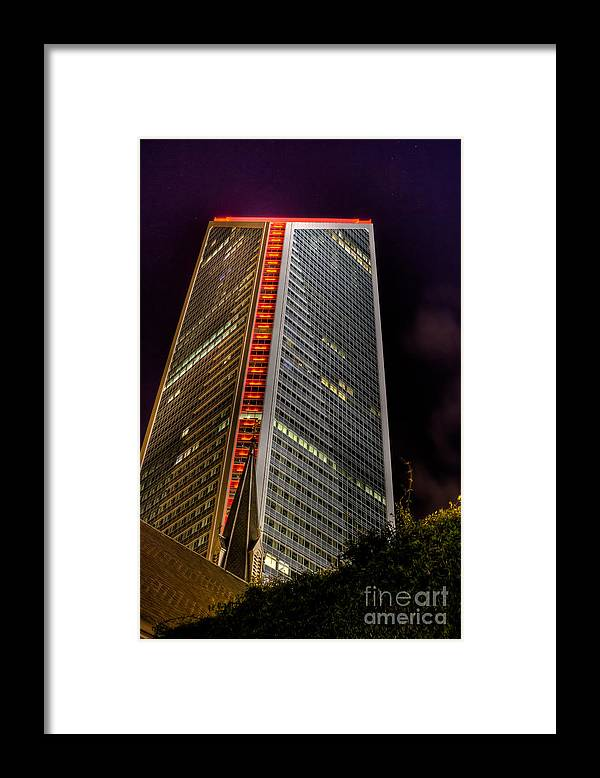 Architecture Framed Print featuring the photograph Tower of Power by Brian Tye