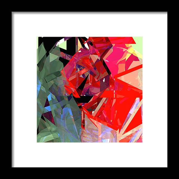 Abstract Framed Print featuring the digital art Tower Poly 15 by Russell Kightley