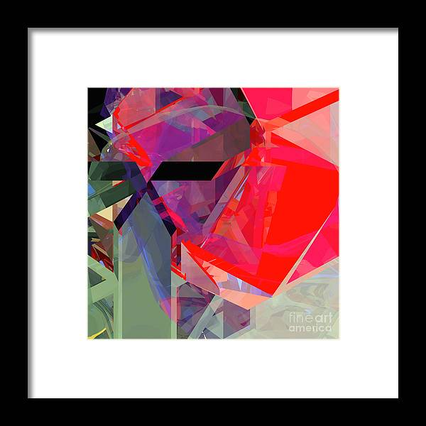 Abstract Framed Print featuring the digital art Tower Poly 20 by Russell Kightley