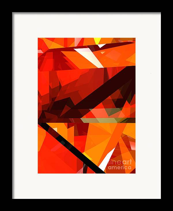 Abstract Framed Print featuring the digital art Tower Series 14p by Russell Kightley