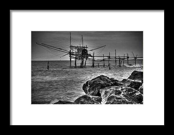 Fishing Framed Print featuring the photograph Trabucco 2 by Michele Mule'