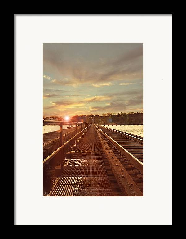Railroad Framed Print featuring the photograph Tracks To Greatness by Joel Witmeyer