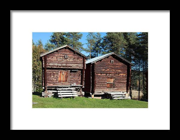 Sweden Framed Print featuring the photograph Traditional Swedish Storage Buildings by Ulrich Kunst And Bettina Scheidulin