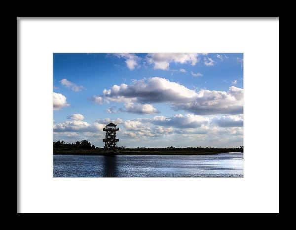 Trail Framed Print featuring the photograph Trails And Towers by Nicholas Evans