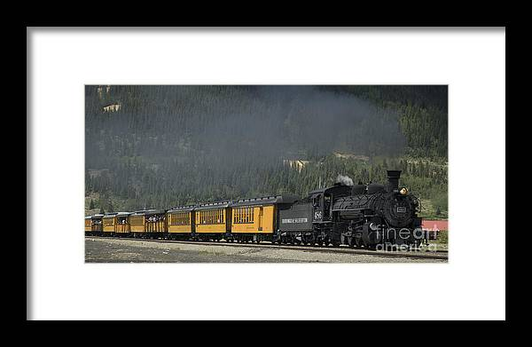 Cumbres & Toltec Framed Print featuring the photograph Trainload Of Tourists by Tim Mulina