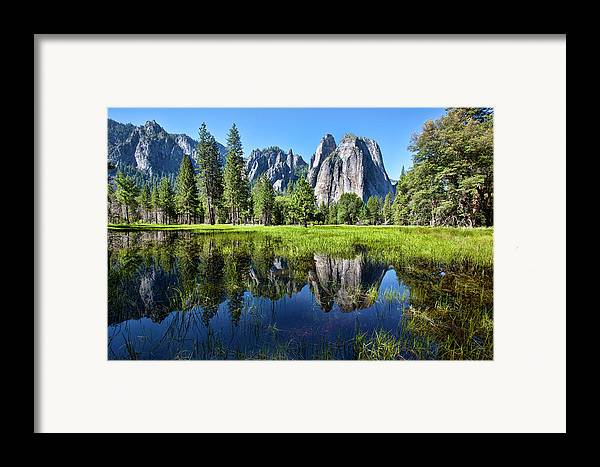 Horizontal Framed Print featuring the photograph Tranquility In Yosemite by Mimi Ditchie Photography