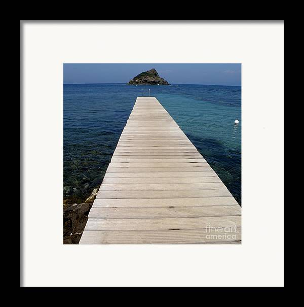 Seascape Framed Print featuring the photograph Tranquility by Lainie Wrightson