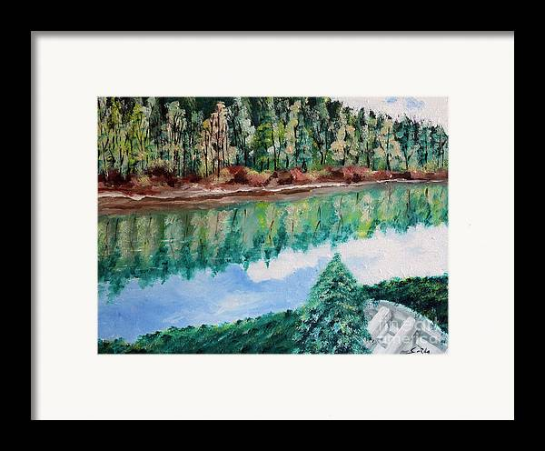 Landscape Oil Paintings Framed Print featuring the painting Tranquility by Seth Corda