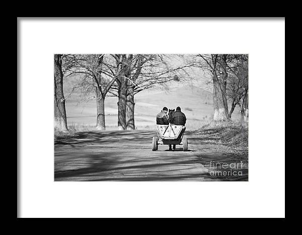 Road Framed Print featuring the photograph Transportation by Gabriela Insuratelu