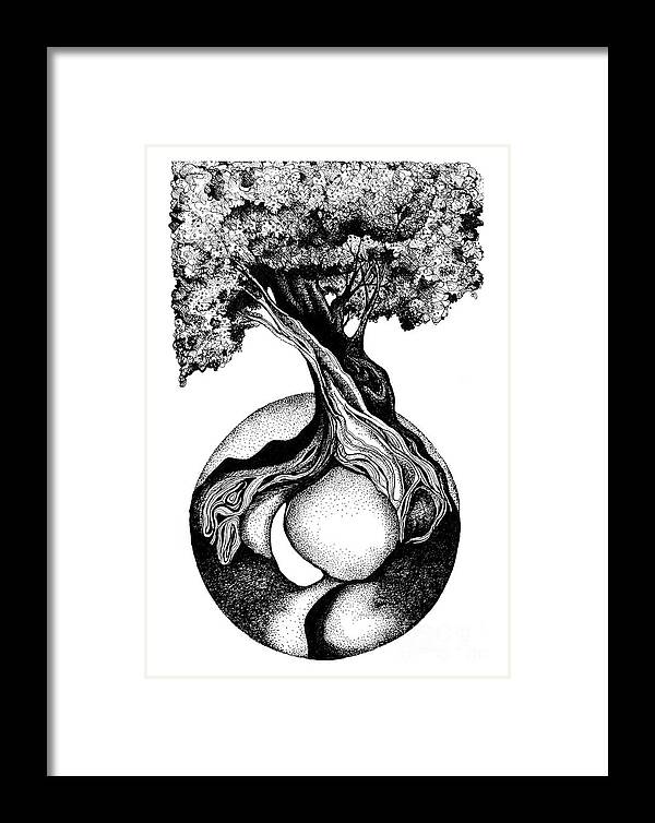 Summer Framed Print featuring the drawing Tree Of Life by Danielle Scott