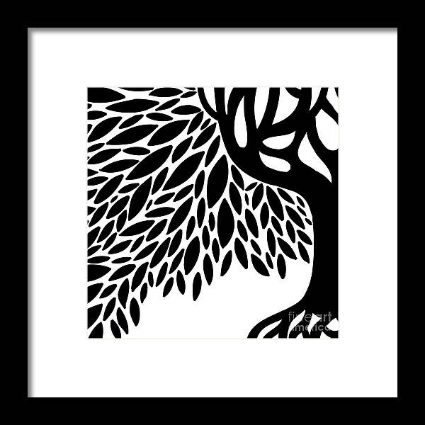 Tree Framed Print featuring the photograph Tree Graphic by HD Connelly