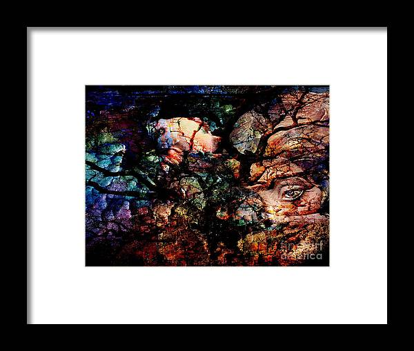 Abstract Framed Print featuring the digital art Tree Of Life. by Marek Lutek