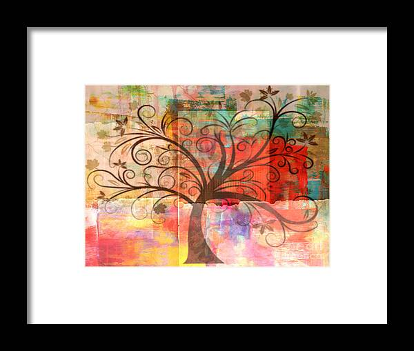 Tree Framed Print featuring the painting Tree Of Wisdom by Sacred Muse