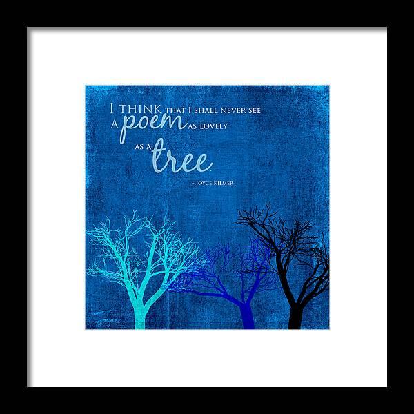 Digital Painting Framed Print featuring the digital art Tree Poem by Bonnie Bruno