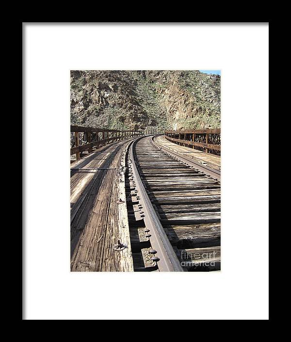Train Tracks Framed Print featuring the photograph Trestle Tracks by Baywest Imaging