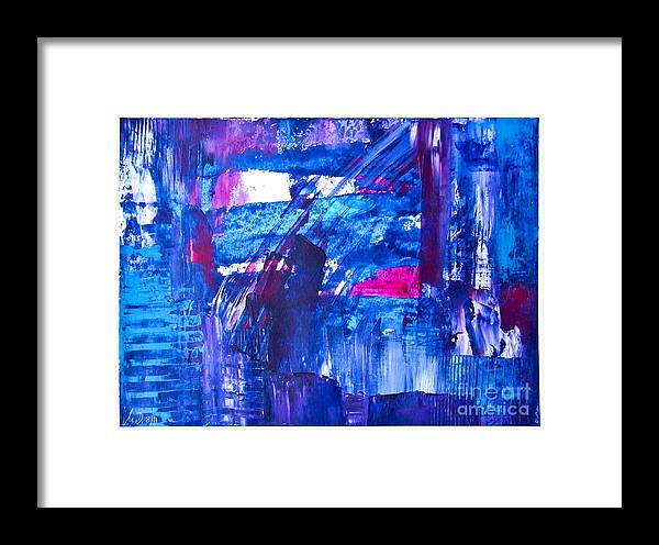Acrylic Painting Framed Print featuring the painting Trevor's World by Martina Dresler