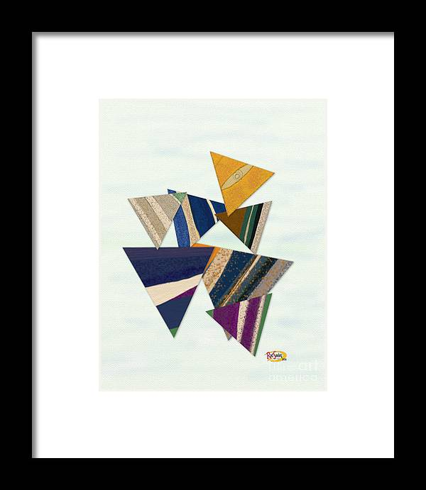 Digital Painting Framed Print featuring the digital art Triangles by Rod Seeley