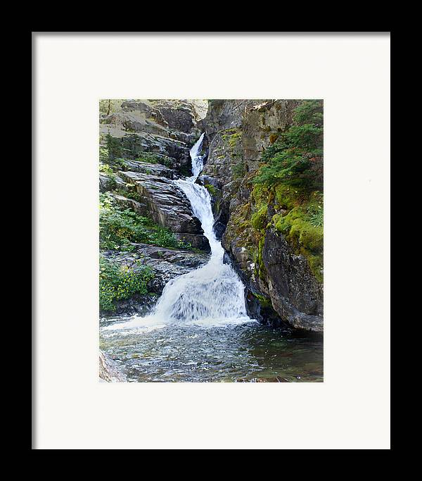 Glacier National Park Framed Print featuring the photograph Tricky Falls by Marty Koch