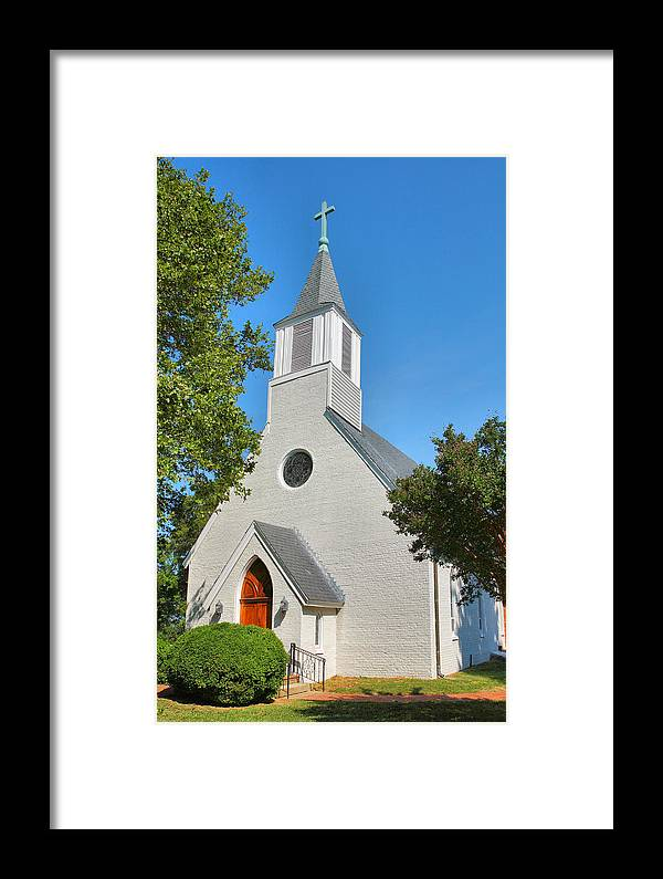 Religion Framed Print featuring the photograph Trinity Episcopal Church I by Steven Ainsworth