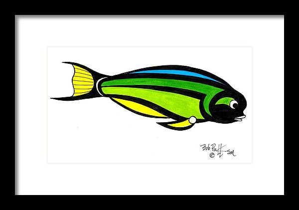 Fish Framed Print featuring the painting Tropical Fish Fantasy In Color by Bob Patterson