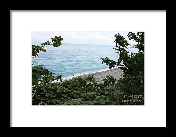 Water Framed Print featuring the digital art Tropical Island by Maxine Bochnia