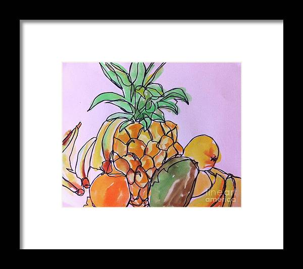 Art Framed Print featuring the painting Tropical Snack by Norma Gafford